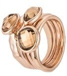 JAYDEN SET - Anello - rose gold/braun