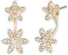 Anne Klein orecchini in metallo color oro, con un fiore con pietre di cristall