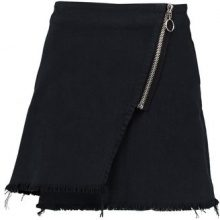 Weekday MEDLEY TWILL SKIRT Gonna di jeans black