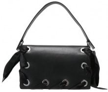 Topshop PREMIUM GRACE RIBBON SHOULDER Borsa a mano black