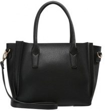 Dorothy Perkins MINI PLEAT TOTE Borsa a mano black