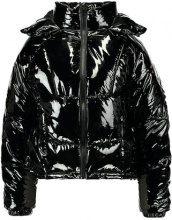 Topshop KUBO METALLIC PUFFER Giacca invernale black