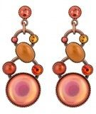 ALIEN CAVIAR - Orecchini - pink/orange antique copper