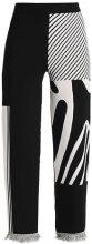 Weekday COSMIC KNIT TROUSER LIMITED EDITION Pantaloni black/beige jacquard