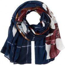 PIECES Pcricco Long Scarf, Sciarpa Donna, Multicolore (Navy Blazer), Taglia Unica