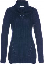 Pullover a collo alto (Blu) - bpc selection