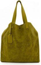 Borsa Shopping Dream Leather Bags Made In Italy  Borsa Donna Shopper In Pelle Vera Colore Giallo - Pelletteria To