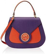 Braccialini Alicia, Borsa a Mano Donna, Multicolore (Viola/Arancio), 11 x 26 x 33 cm (W x H x L)