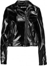 NAKD EMBROIDERY BIKER JACKET Giacca in similpelle black
