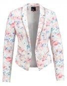 Blazer - weiß/rosa