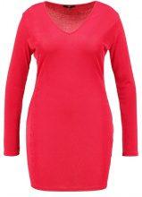 Missguided Plus V NECK SLINKY BODYCON Vestito elegante red