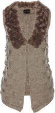 Gilet in maglia con ecopelliccia (Grigio) - bpc selection premium