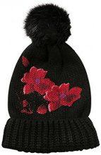 Desigual Hat_Red Flowers, Cuffia Donna, Nero (Negro 2000), Unica (Taglia Produttore: U)
