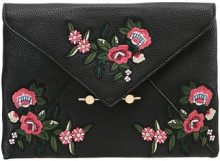 Miss Selfridge EMBROIDERED  Pochette black