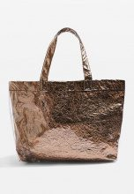 Topshop SALLY METALLIC  Shopping bag bronze