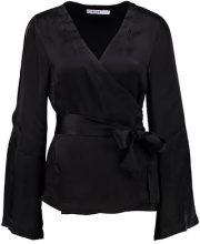 NAKD CUT OUT WRAP Camicetta black