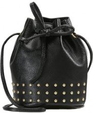 Missguided MINI STUDDED DRAWSTRING Borsa a tracolla black