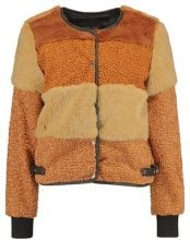 New Look PATCHWORK CROPPED JACKET Giacca invernale brown pattern