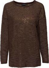 Pullover in fantasia glitterata (Marrone) - BODYFLIRT