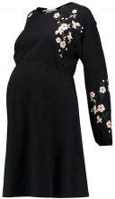 Topshop Maternity EMBR BALLOON  Vestito di maglina black