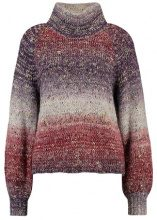 Selected Femme SFGLITZ ROLLNECK Maglione syrah/sepia rose/plum