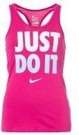 T-shirt sportiva - vivid pink/black