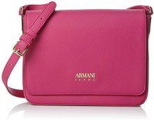 Armani Jeans Borsa Tracolla - Borse a spalla Donna, Pink (Fuchsia), 21x7x25 cm (B x H T)