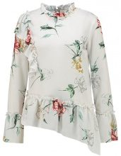 Miss Selfridge ASSYM IVORY FLORAL RUFFLE BLOUSE Camicetta multi