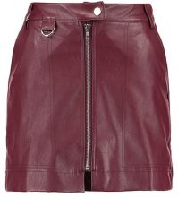 Fashion Union Petite ABNER ZIP SKIRT Gonna a campana bordeaux
