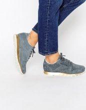 Reebok - Scarpe da ginnastica classiche grigio scamosciato con suola dorata