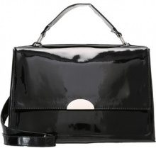 New Look ALL OVER PATENT SATCHEL Borsa a mano black