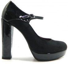 Scarpe Adele  2221 Scarpe Donna Decolt? con Cinturino Tacco Alto Nero