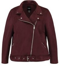 New Look Curves BIKER Giacca in similpelle burgundy