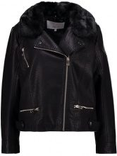 Lost Ink Plus BIKER JACKET Giacca in similpelle black