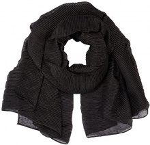 TOM TAILOR My Highlight Scarf, Sciarpa Donna, Nero (Black 2999), Taglia unica