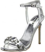 CarvelaGail NP - Peep Toe Donna, Argento (Silver (Silver)), 37