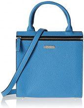 Damai Mini Essenza Cartella, Borsa a Tracolla Donna, Blu, 11 x 30 x 20 cm (W x H x L)