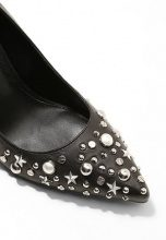 KARL LAGERFELD MANOIR HI COURT STARS Decolleté black/silver