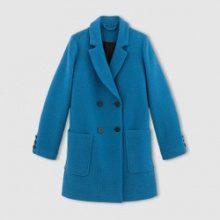 Cappotto in tessuto intrecciato panno di lana