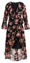 Miss Selfridge WINTER ROSE PRINT WRAP DRESS Vestito lungo black
