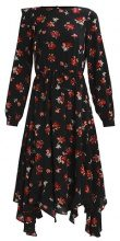 Miss Selfridge IRENE FLORAL HANKY DRESS Vestito lungo black