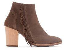 Boots pelle dettaglio frange
