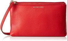 Michael Kors Adele - Borse a tracolla Donna, Rosso (Bright Red), 4x8.5x17 cm (W x H L)