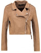 Missguided Petite ZAZULA BIKER Giacca in similpelle tan