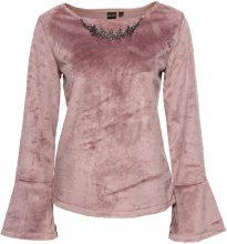 Blusa in ecopelliccia con collana (rosa) - BODYFLIRT