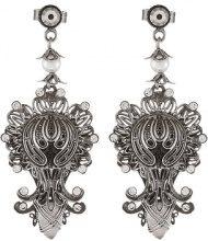Konplott HARAKIRI BLOOM Orecchini antique silvercoloured