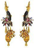 VICKISARGE Orecchini da Donna Placcato Oro Cristallo Multicolore Rotondo