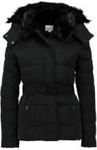 Warehouse SHORT PADDED BELTED WADDED COAT Giacca invernale black