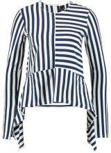 Topshop BOUTIQUE CUTABOUT STRIPE  Maglietta a manica lunga navy blue