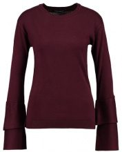 Dorothy Perkins DOUBLE FLUTE SLEEVE  Maglione aubergine
